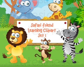 Zoo Digital Clipart, Zoo Clipart, Safari Clipart, Wild Animal Clipart