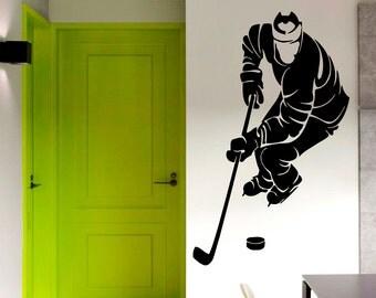 Ice skating stickers sur etsy la plateforme de vente for Decoration chambre hockey canadien