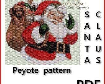 Santa Claus Tapestry Peyote Pattern - pdf