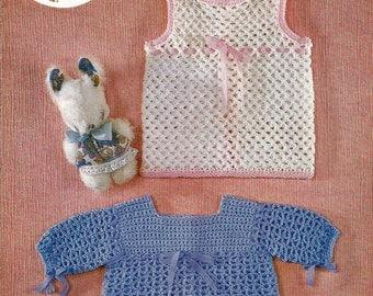 Instant Download - PDF- Pretty Vintage Dress Crochet Pattern (D3)