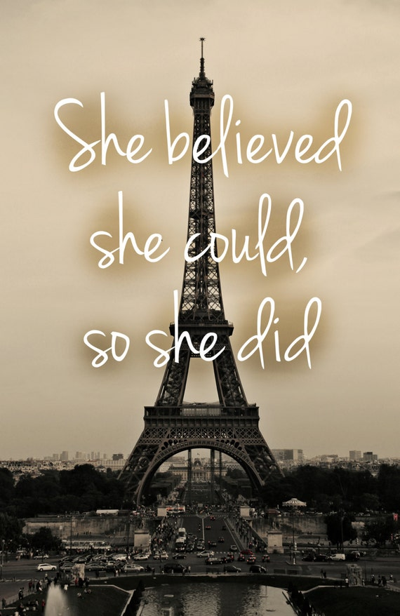 Items similar to She Believed She Could, So She Did, quote ...