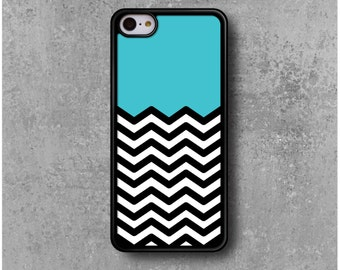 IPhone 5C Case Zig Zag Chevron Blue