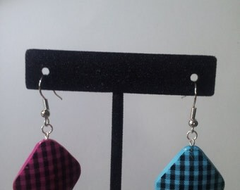 Dueling Checkered Earrings