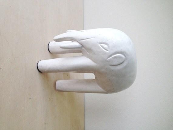 Austin Prod Inc 1972 White Ceramic Elephant Sculpture