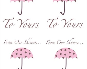 From Our Shower To Yours Gift Tags - Baby Shower