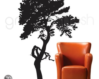 Wall decals CLASSIC TREE Surface vinyl graphics - Removable wall art - Modern interior decor by GraphicsMesh