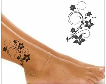 Temporary Tattoo Flower Waterproof Fake Tattoo Thin Durable