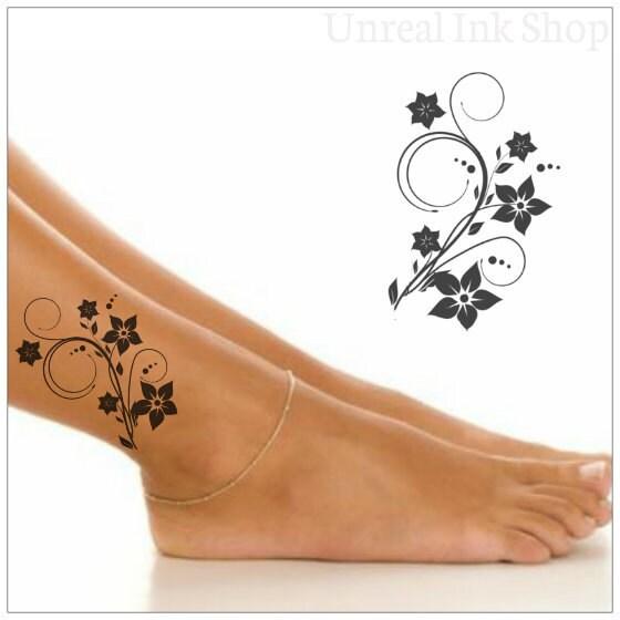 tempor re tattoo flower wasserdicht fake tattoo d nn durable. Black Bedroom Furniture Sets. Home Design Ideas