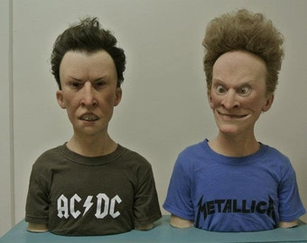Beavis & Butthead Lifelike Silicone Sculptures