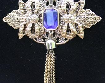 Vintage AJC Brooch Assemblage Necklace