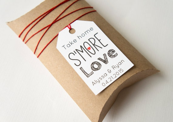 Wedding Take Home Gifts: Items Similar To Take Home S'more Love Wedding Favor Tags