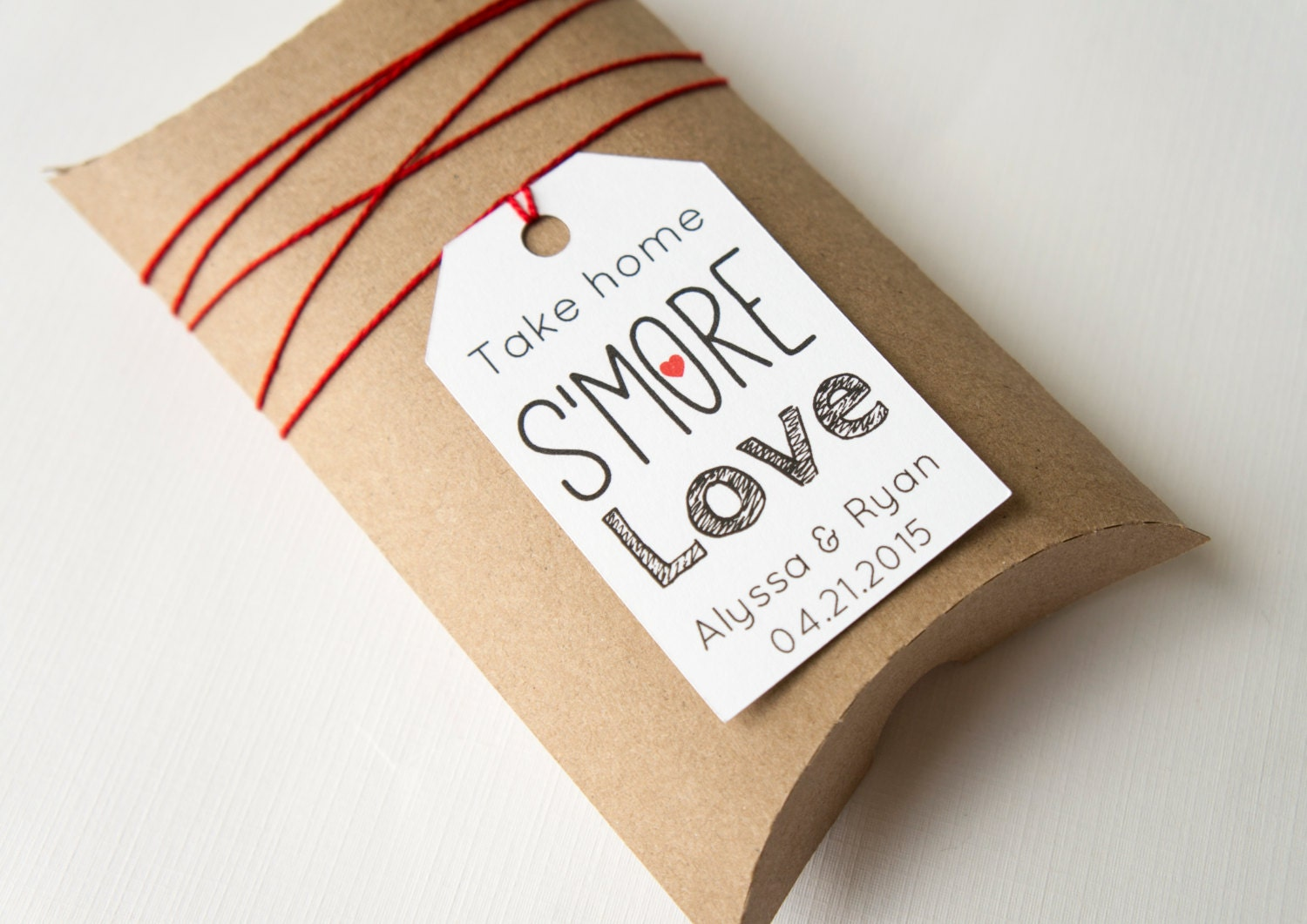 Wedding Take Home Gifts: Take Home S'more Love Wedding Favor Tags Smores Favors