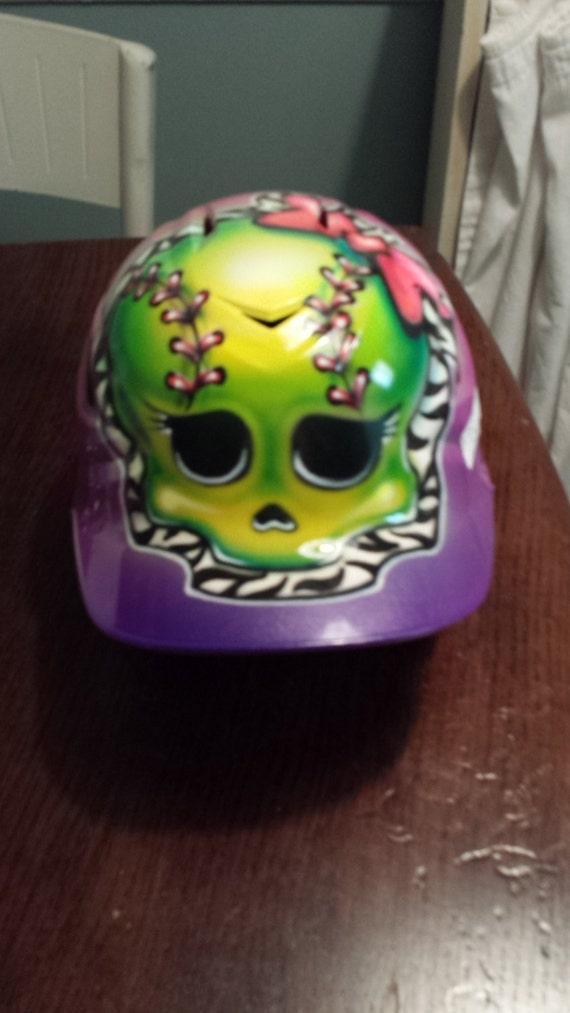Custom Painted Softball Helmets