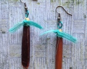 Alaskan sea urchin earrings