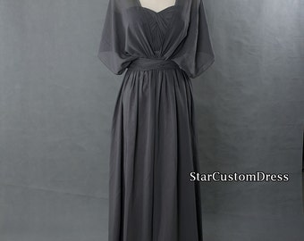 Grey Bridesmaid Dress Long Convertible Bridesmaid Dress Long Prom Dress