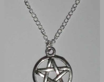 Simple Small Pentagram Necklace , Small Pentacle Necklace , Silver Pentagram Necklace , Wicca Jewelry , Wiccan , Pagan , Handmade Jewelry