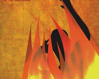 Literary Art Print. Climax - An Element of a Novel. Educational Classroom Poster featuring Fahrenheit 451 by Ray Bradbury