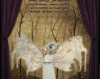 Literary Art Print. Drama - Literary Genre. Educational Classroom Poster