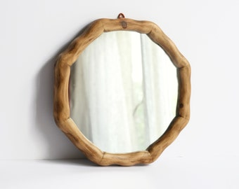 "11"" Wooden Wall Mirror - Nautical Porthole Mirror - Octagonal Reclaimed Wood Mirror - Home Decor - Waldorf"