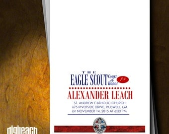 Eagle Scout Court of Honor Program Cover: White Fade - Digital File