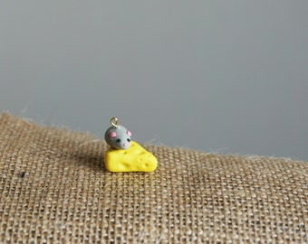 Mouse and Cheese Charm