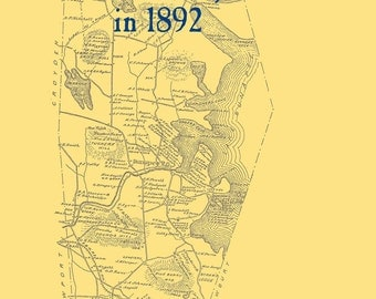 The Old Maps of Sullivan County,  New Hampshire in 1892