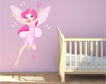 Fairy Tale Pink Fairy Wall Sticker Decal Mural Transfer Girls Bedroom  Nursery Playroom Wall Stickers WSD226 Part 35