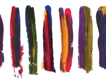 Colored Paintbrush Illustrator Brushes