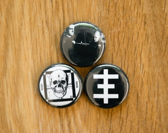 "Psychic TV Pinback Buttons - Throbbing Gristle Pin 1"" Pin Occult Industrial Genesis P-Orridge Noise"