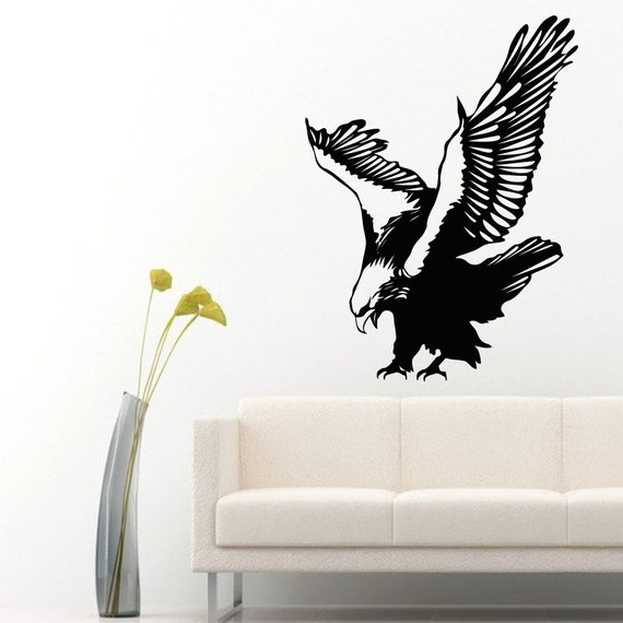 Eagle wall decals flying eagle birds stickers by for Eagle wall mural