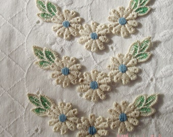 Vintage Blue Daisy Garlands (package of 2)