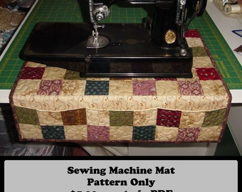 Quilted Sewing Machine Mat Pattern