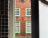 Looking Out, AMSTERDAM House, URBAN View, Netherlands Photo, Open Window, Holland, Oranje,Old European Architecture, City Photography