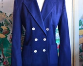 Vintage 1940s Designer for J.W. Robinson Co. Women's Tailored Double Breasted Suit Jacket - Size M