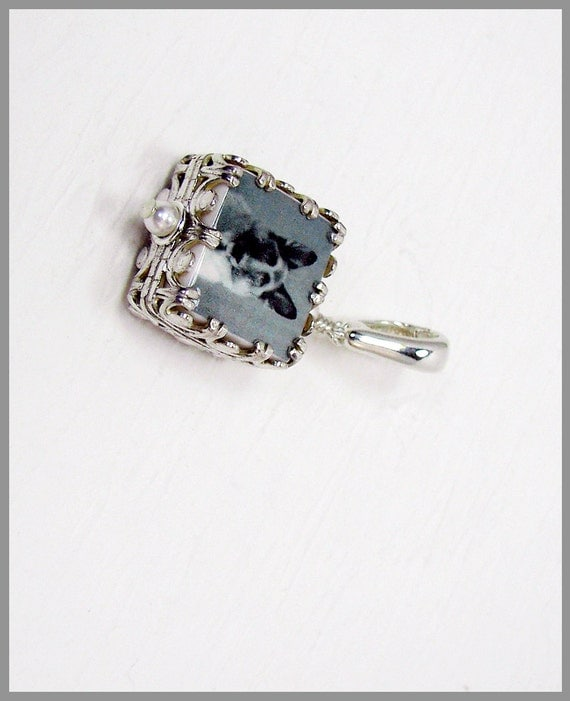A Gorgeous Photo Charm Wrapped in a Sterling Gallery Frame - WC5G