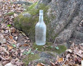 Vintage Hayner Distilling Co 1800s to early 1900s prohibition era Americana scalloped embossed logo patina spirits bottle rocker bar decor