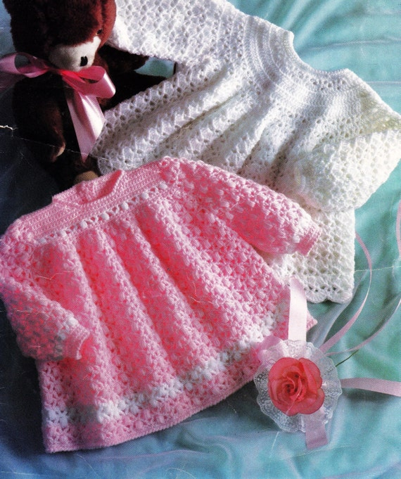 Crochet Baby Winter Dress Pattern : Vintage Baby Crochet Pattern / Dress or Top / Essential Winter