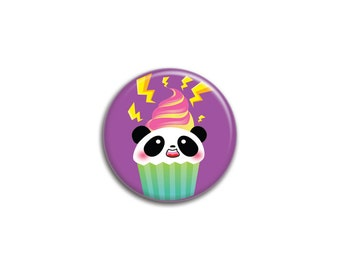 Electric Cupcake Panda Button