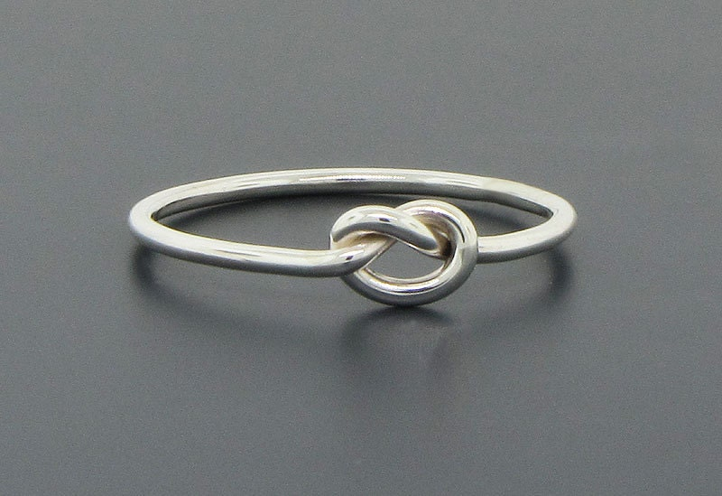 knot ring sterling silver ring promise ring commitment