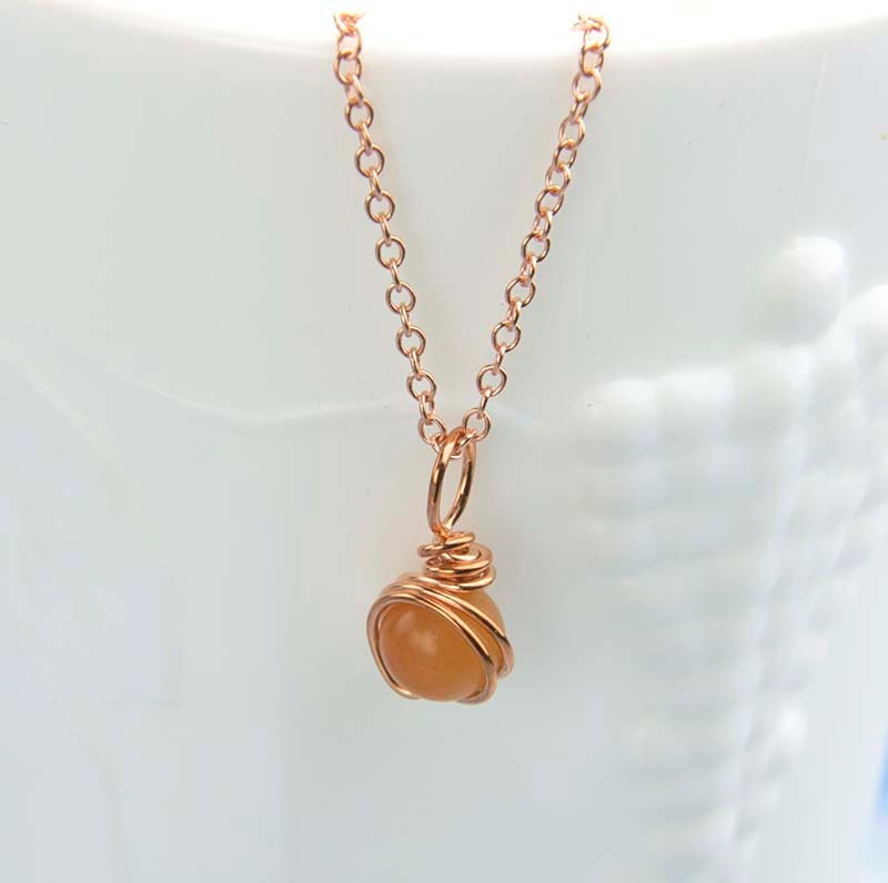 orange gemstone necklace aventurine gemstone pendant