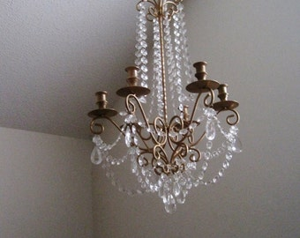 Lush Large Empire Taper Style Candle Chandelier In Antique Gold MADE TO ORDER