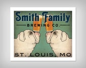 free BULLDOG Personalize Customizable -  BULLDOG Brewing Company graphic art giclee print SIGNED