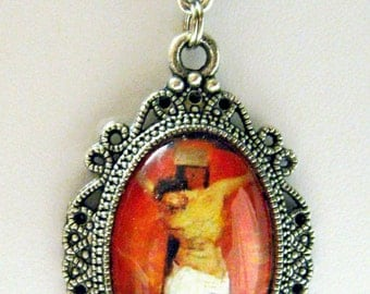 Christ on the cross necklace - AP04-753
