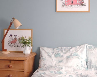 Single Bed Linen Set - Woodlands Blue