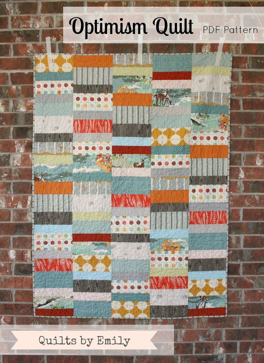 Modern Quilt Patterns Free Download : Optimism Modern Quilt Pattern INSTANT DOWNLOAD