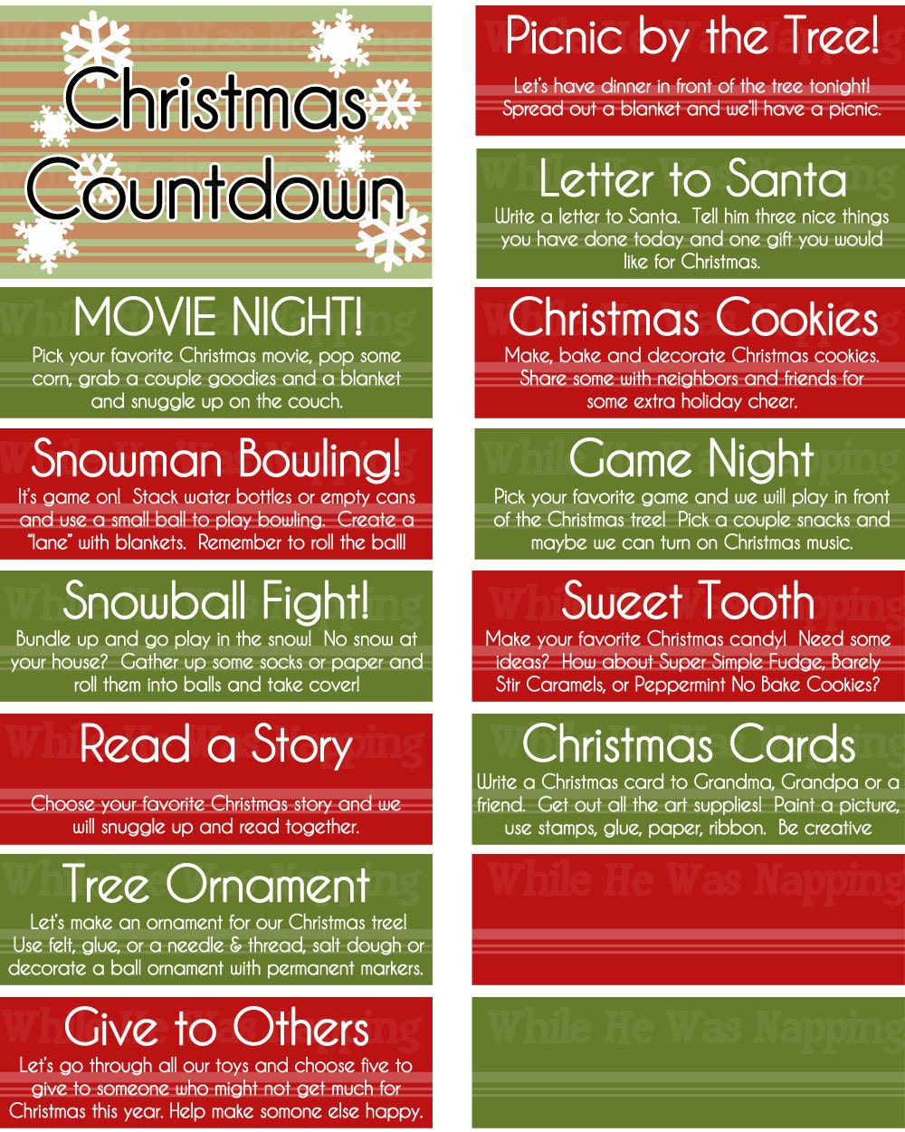 Kid 39 s christmas activities countdown boredom buster jar or for Make your own christmas countdown calendar