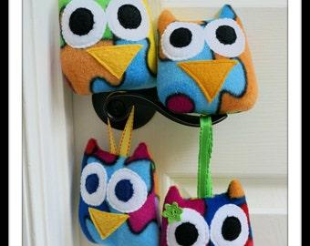 Mini Autism Awareness Owl, Mini Plush Owl, Owl for a Cause