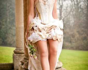 Steampunk Victorian wedding dress/ prom sexy corset bustle gothic clothing. Custom MADE TO ORDER/ measure