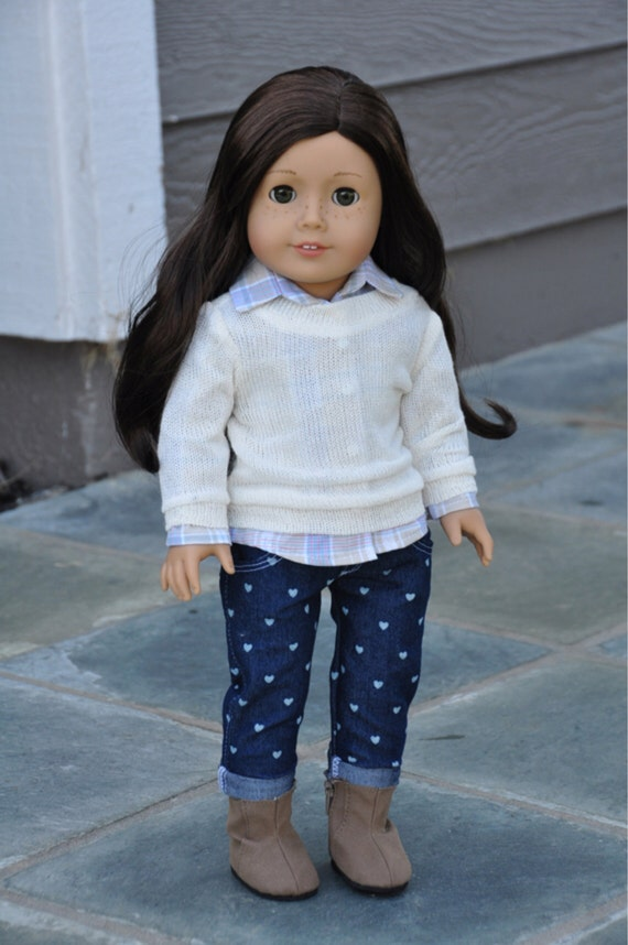 American Girl Clothes - Cream Pullover Sweater, Separates