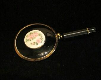 Mirror Lipstick Compact Schildkraut Lipstick Mirror Case Enamel Floral Lipstick Holder Rare